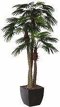Kunstpflanze Fächerpalme mit 3 Stämmen und 45