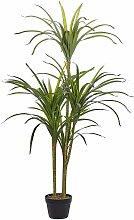 Kunstpflanze Grün mit schwarzem Blumentopf aus