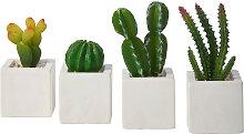Kunstpflanze Kakteen (4-tlg. Set), grün
