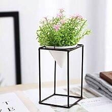 Kunstpflanze Künstliche Topfpflanze Blumen Gras