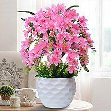 Kunstpflanze Orchidee mit Keramiktopf - ca. 50cm