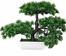 Kunstpflanze Pflanze,Japanischer Feng Shui Pinien