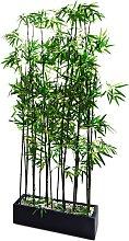Kunstpflanze Raumtrenner Bambus, grün