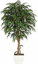 Kunstpflanze Weeping Ficus grün, mit Naturstamm