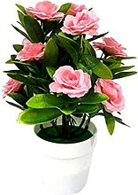 Kunstpflanzen 1Set Künstliche Blume Pflanze Rose