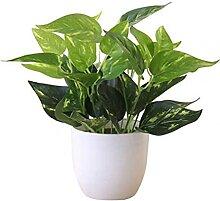 Kunstpflanzen Künstliche Laub Pflanze Topf Bonsai