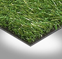 Kunstrasen Rasenteppich Fertigrasen mit Drainage 23mm grün 200 und 400 cm breit, verschiedene Längen, Variante: 6 x 2 m