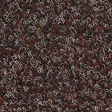 Kunstrasen Rasenteppich Fertigrasen Nadelfilz mit Noppen 6,5mm braun 200 und 400 cm breit, verschiedene Längen, Variante: 2,5 x 4 m