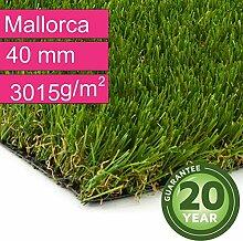 Kunstrasen Rasenteppich Mallorca für Garten -