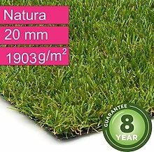 Kunstrasen Rasenteppich Natura für Garten -