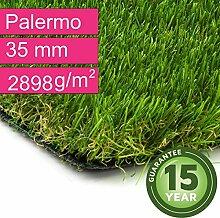 Kunstrasen Rasenteppich Palermo für Garten -