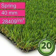 Kunstrasen Rasenteppich Spring für Garten -
