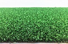 Kunstrasen Rügen Grün / 7 mm 1.300 g/m² / Rasenteppich mit Drainage-Noppen / strapazierfähig, langlebig und pflegeleicht / indoor wie outdoor geeignet / für Garten, Terrasse, Balkon und Camping, Größe Auswählen:400 x 200 cm