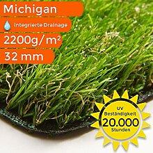 Kunstrasen Teppich Michigan | Meterware | Für