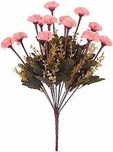 Kunstseide 14-Kopf Künstlichen Blume Nelke Pflanze Blumen Dekor - Rosa, 43cm