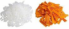 Kunststoff 100 Clips Keile Fliese Ausgleicher