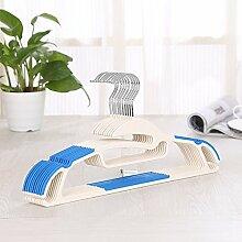Kunststoff Anti-Rutsch Aufhänger Nahtlos Wäscheständer (Eingebaut 20) ( Farbe : 4 )
