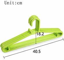 Kunststoff Anti-Rutsch Haushalt Nahtlos Erwachsene Kleiderstütze Trockengestelle (mit 20) ( Farbe : C )