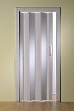 Kunststoff - Falttür Esche weiß ohne Fenster