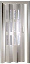 Kunststoff - Falttür mit 3 Fenster Luciana weiß