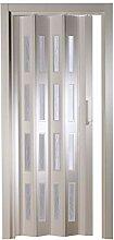 Kunststoff - Falttür mit 4 Fenster Luciana weiß