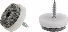 Kunststoff Filz Displayschutzfolie Pads mit Inbusschraube Schraube Möbel Tisch Stuhl gleitet erhältlich Größen 20, 24, 28, 40mm Durchmesser Made in Germany