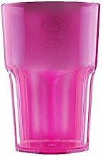 Kunststoff Gläser - Trinkgläser Gartenparty - Camping Mehrwegbecher - Plastik Party Becher - Party Mehrweg Trinkgefäße mit Modellauswahl (Cocktail 1 Stück pink)