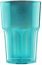 Kunststoff Gläser - Trinkgläser Gartenparty - Camping Mehrwegbecher - Plastik Party Becher - Party Mehrweg Trinkgefäße mit Modellauswahl (Cocktail 1 Stück blau)