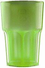 Kunststoff Gläser - Trinkgläser Gartenparty - Camping Mehrwegbecher - Plastik Party Becher - Party Mehrweg Trinkgefäße mit Modellauswahl (Cocktail 1 Stück grün)