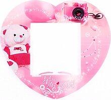 Kunststoff-Herz-geformte Schalter Aufkleber Abdeckung Sockel Dekoration Rosa