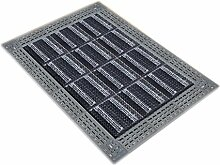 Kunststoff hohle Anti-Rutsch-Matte Tür Tür Staub Boden Matten ( Farbe : Grau , größe : 105*120cm )