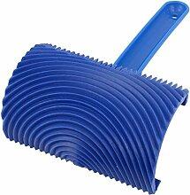 Kunststoff Holzmaserung Pinsel - SODIAL(R) Holzmaserung Druck Wandmalerei Dekoration DIY Werkzeug mit Griff