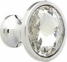 Kunststoff Kristall Griff Schrank Schublade Pull rund Knopf, 6