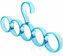 Kunststoff Multifunktion Haushalt Schal Kleiderbügel Krawatte Gürtel Lagergestell ( Farbe : A )