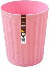 Kunststoff Papierkorb Papierkorb home dicht große Mülleimer Abfalleimer, Kleine 25,5 * 21 * 17 cm, Rosa
