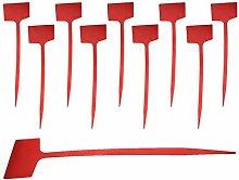 Kunststoff Plakette Erdspieß Schild Halter Etikett Garten Rasen Hof - Rot, 60cm
