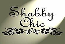 Kunststoff-Schablone Formulierung mit Herz Shabby Chic Blumen Vintage Französischer Stil A4297x 210mm