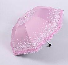 Kunststoff schwarz Sonnenschirm Sonnenschirm Sonnenschutz regendicht portable, Rosa