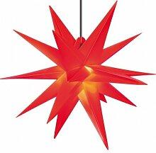 Kunststoff-Stern für Außen 18 Zacker 60 cm ro