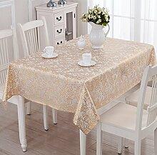 Kunststoff Tischdecken/Wasser Und Öl Beweis Tischdecke/Teetisch Matten/Europäisch Anmutende Druck Untersetzer-F 135x180cm(53x71inch)