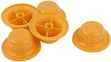 Kunststoff-Ventilator Schraubenmutter Muttern 21mm Höhe 5 Stück orange