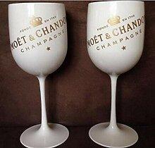 Kunststoff Wein PARTY Weiß Champagnerglas MOET