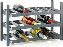 Kunststoff Weinregal BADEN, 5er-Set für insg. 30