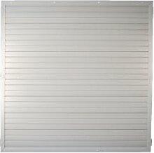 """Kunststoff-Zaun / Garten-Zaun im Maß 180 x 180 cm ( Breite x Höhe ) """"München"""" aus UV-beständigen Fensterkunststoff - silber-grau"""