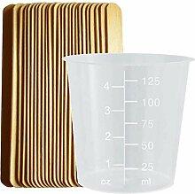 Kunststoffbecher aus Polypropylen mit Mischstäben