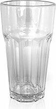 Kunststoffbecher / Plastikbecher 6er Set transparent - als Cocktail- oder Trinkbecher für jeden Anlass zu verwenden - Glasoptik von Speeva (Transparent)