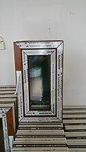 Kunststofffenster Salamander 40x70 cm (b x h), außen eiche gold ; innen weiß, DIN links