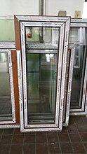 Kunststofffenster Salamander 60x120 cm (b x h), außen eiche gold ; innen weiß, DIN rechts