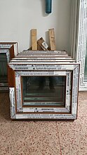 Kunststofffenster Salamander 60x50 cm (b x h), außen eiche gold ; innen weiß, DIN links
