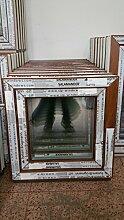 Kunststofffenster Salamander 60x60 cm (b x h), außen eiche gold ; innen weiß, DIN rechts